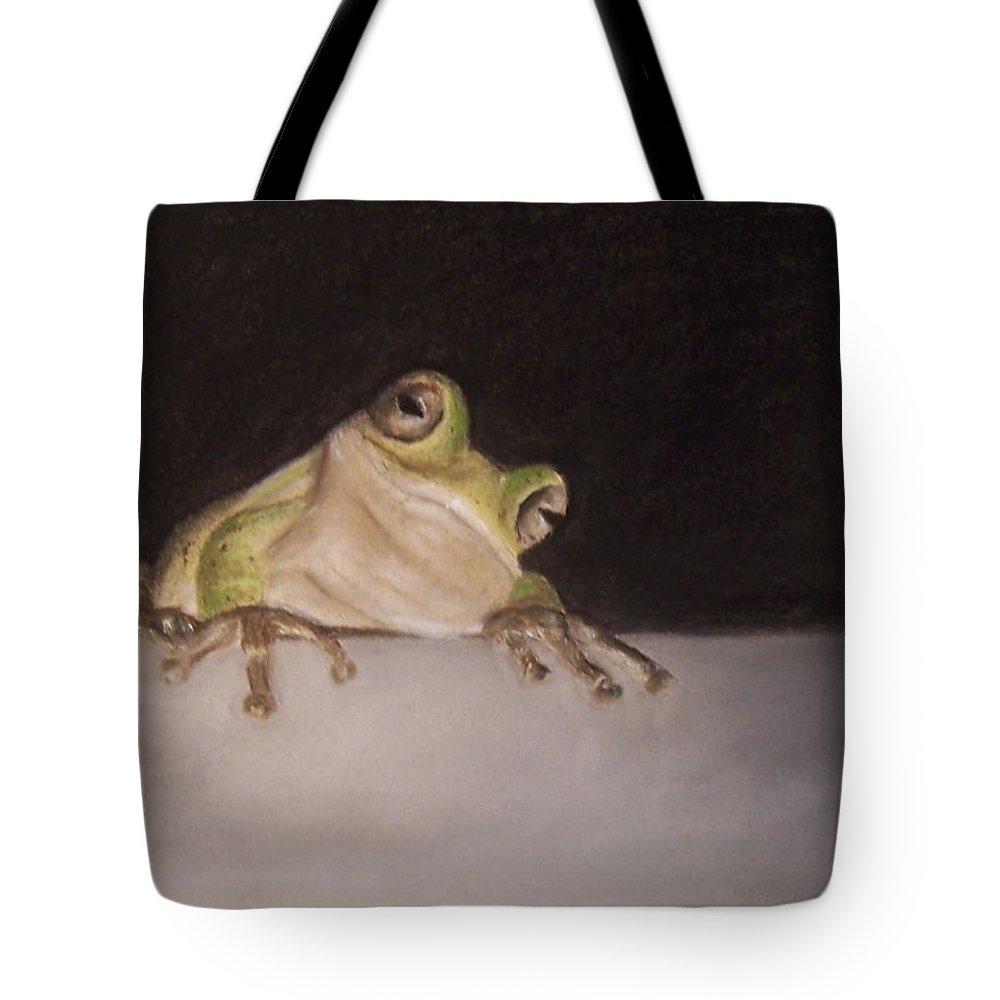 Frog Tote Bag featuring the painting Tree Frog by Elizabeth Ellis