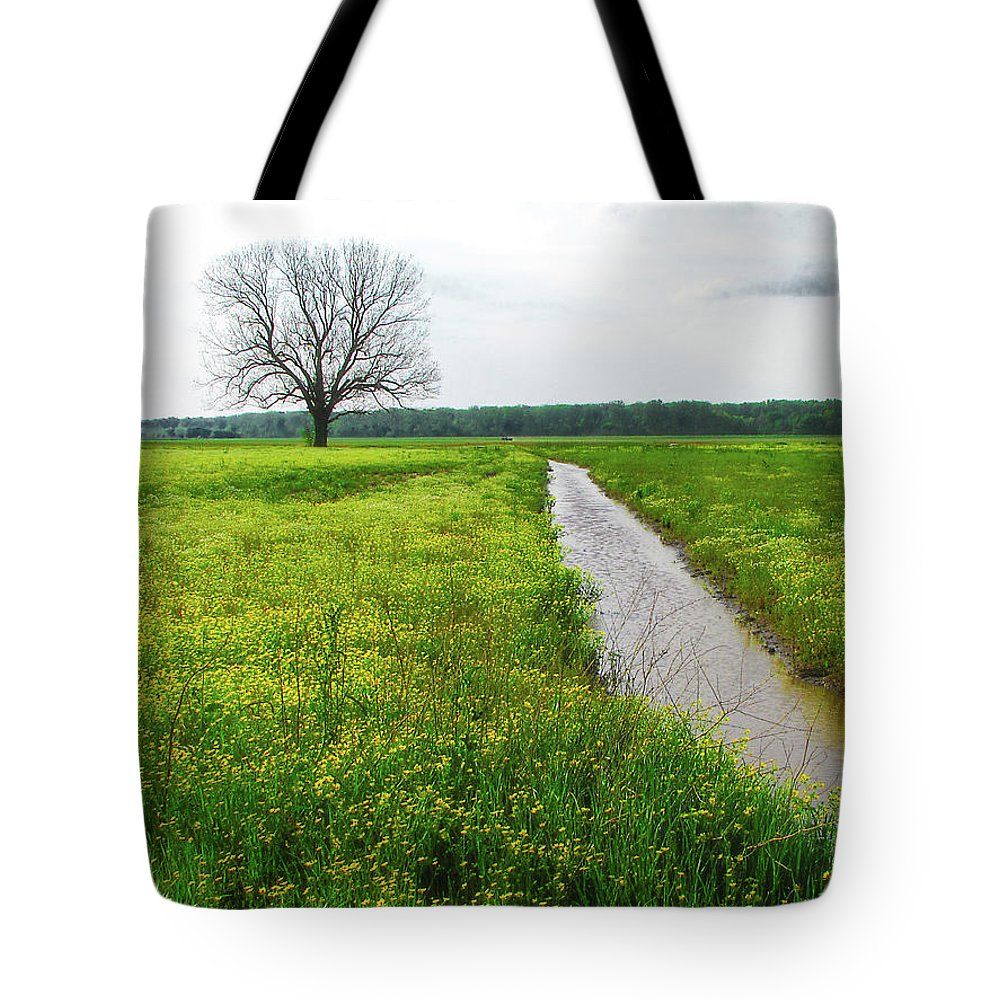 Tree Tote Bag featuring the photograph Tree In Field 2 by Patricia Cale