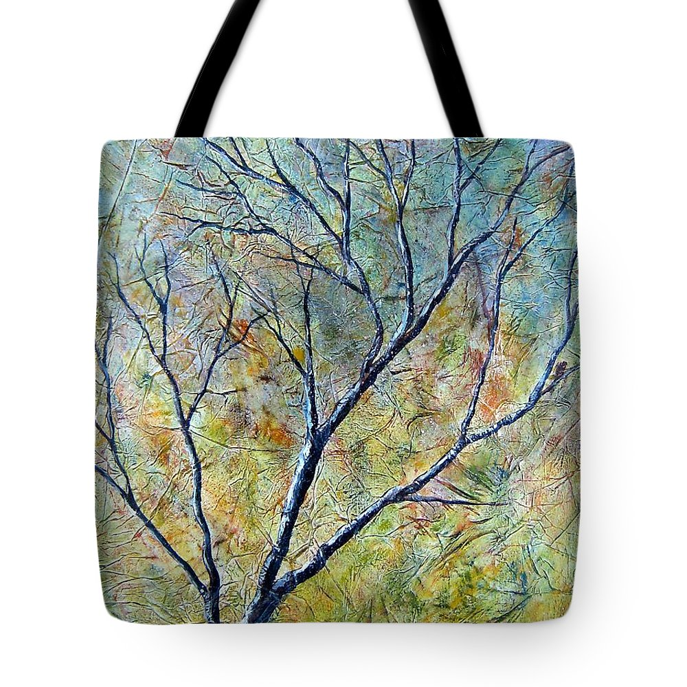 Tote Bag featuring the painting Tree Number One by Tami Booher