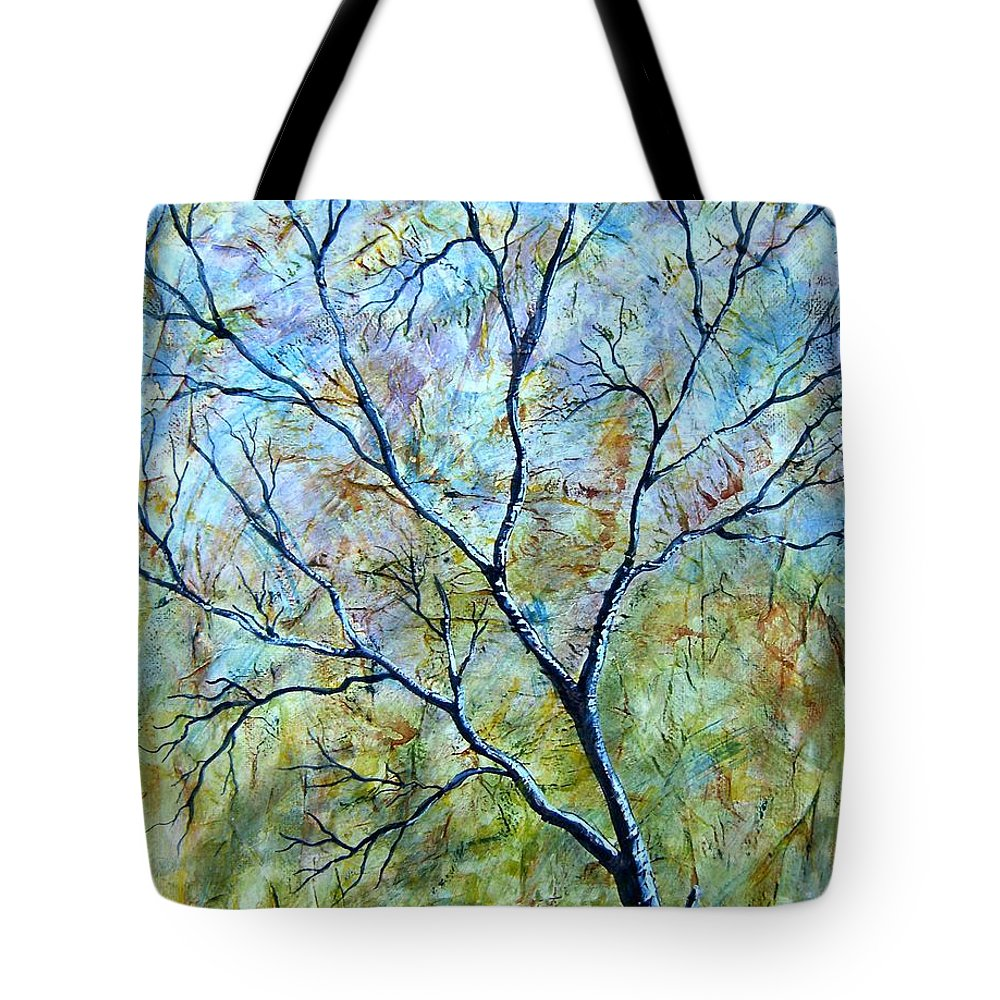 Tote Bag featuring the painting Tree Number Two by Tami Booher