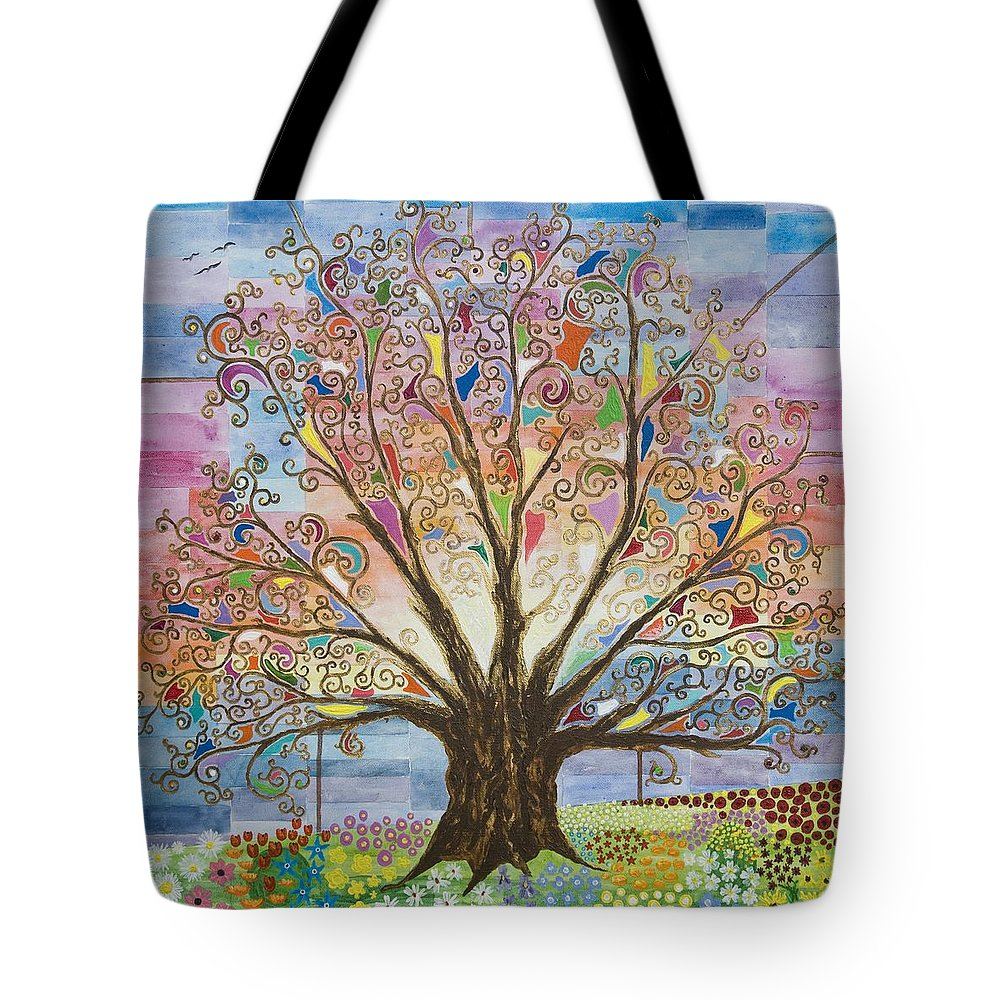 Tree Of Life Tote Bag featuring the painting Tree Of Life #1 by Mark Betson