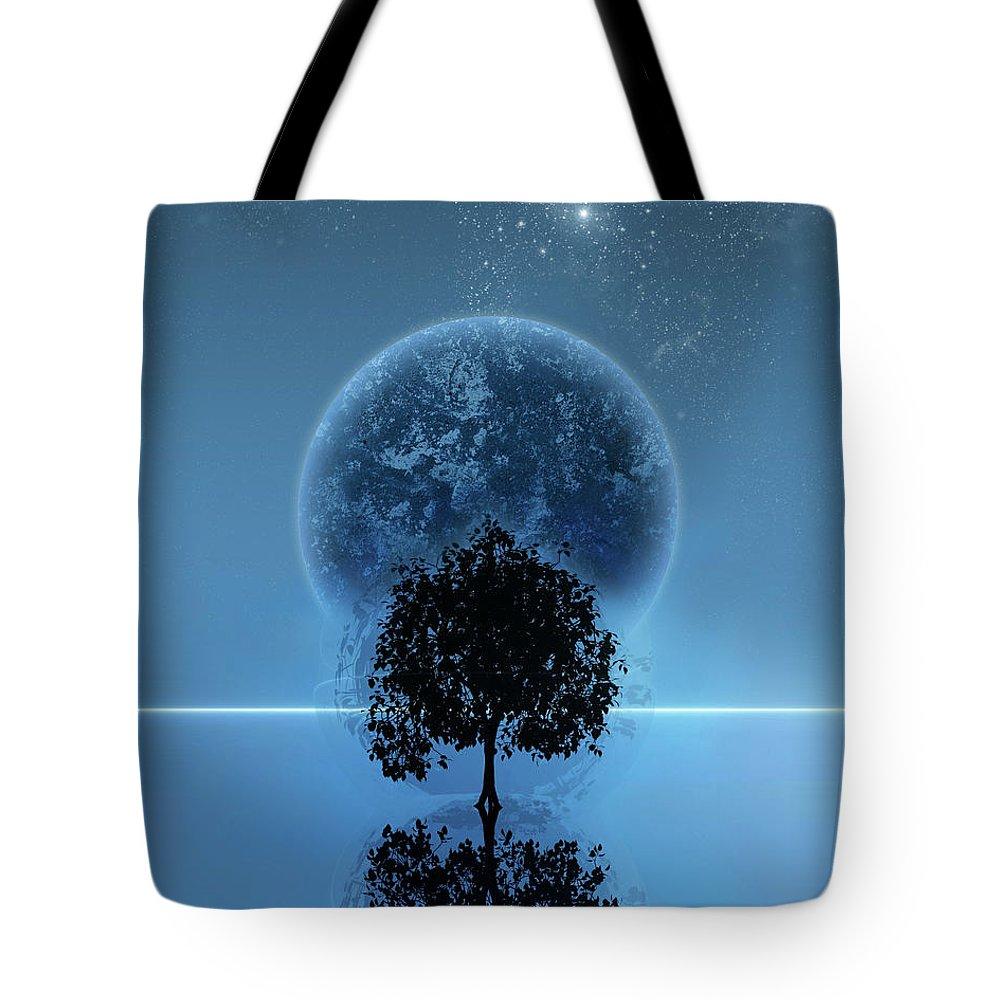 Cyprus Trees Tote Bags