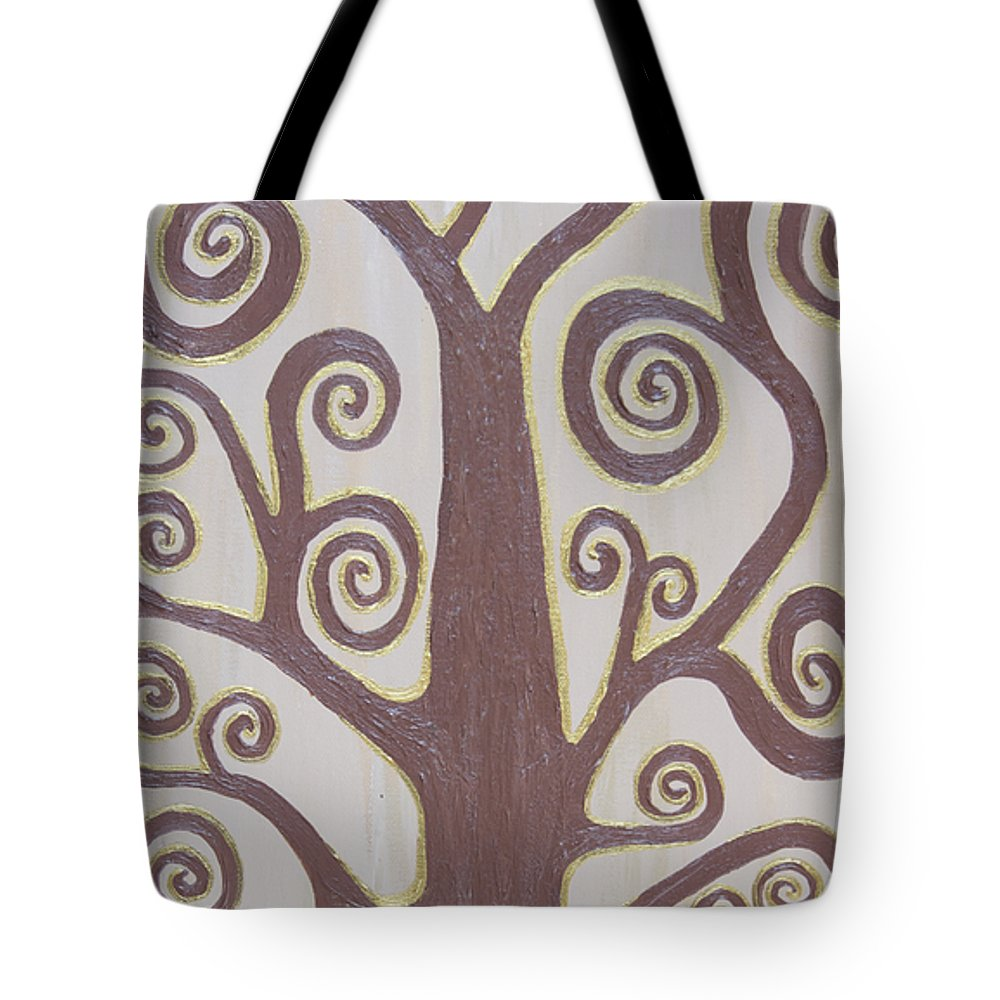 Tree Tote Bag featuring the painting Tree Of Life by Angelina Vick