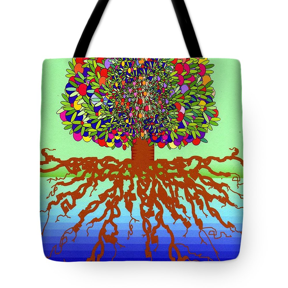 Healing Tote Bag featuring the digital art Tree Of Life by Carliss Prosser
