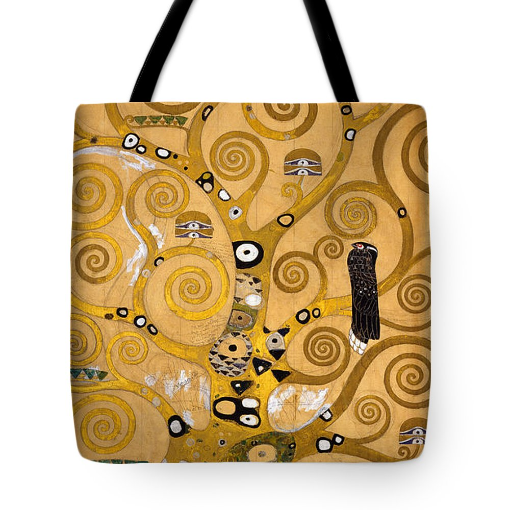 Klimt Tote Bag featuring the painting Tree of Life by Gustav Klimt