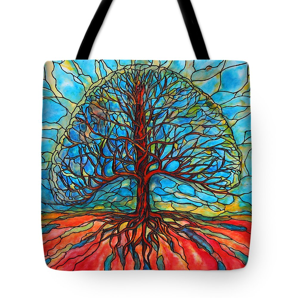 Large Tote Bag featuring the painting Tree Of Life by Rae Chichilnitsky