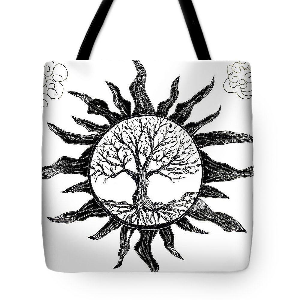 Tree Of Life Sunscape Tote Bag For Sale By Abstract Angel Artist