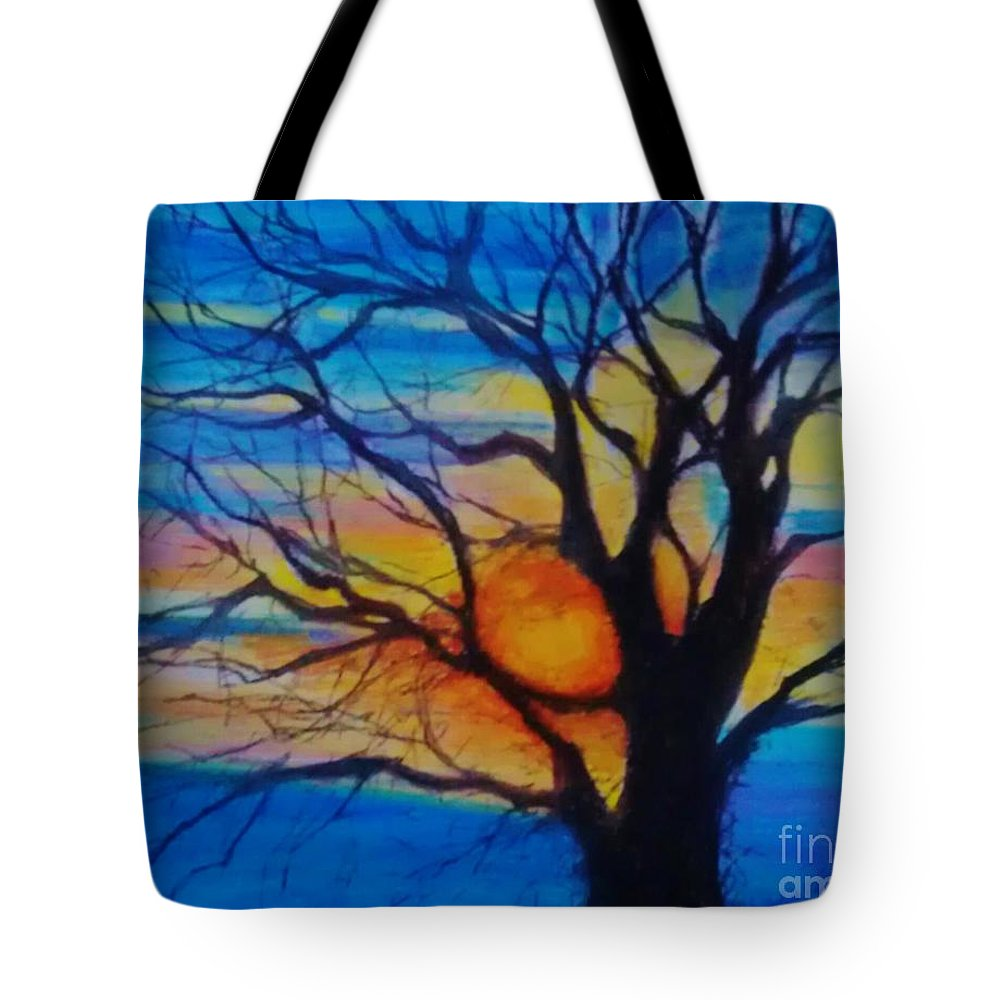 Treedom Tote Bag featuring the pastel Treedom 1 by Caroline Cunningham