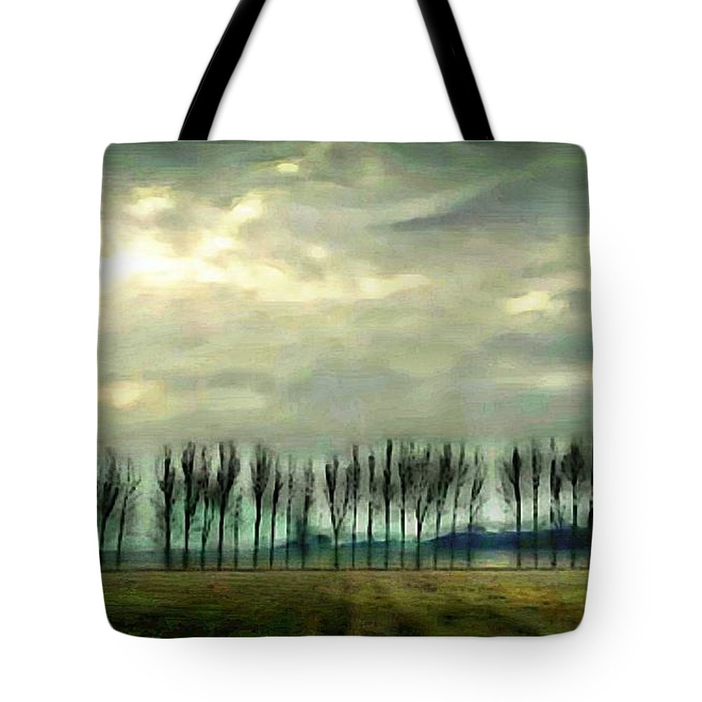 Trees Tote Bag featuring the photograph Treeline by Ellen Cannon