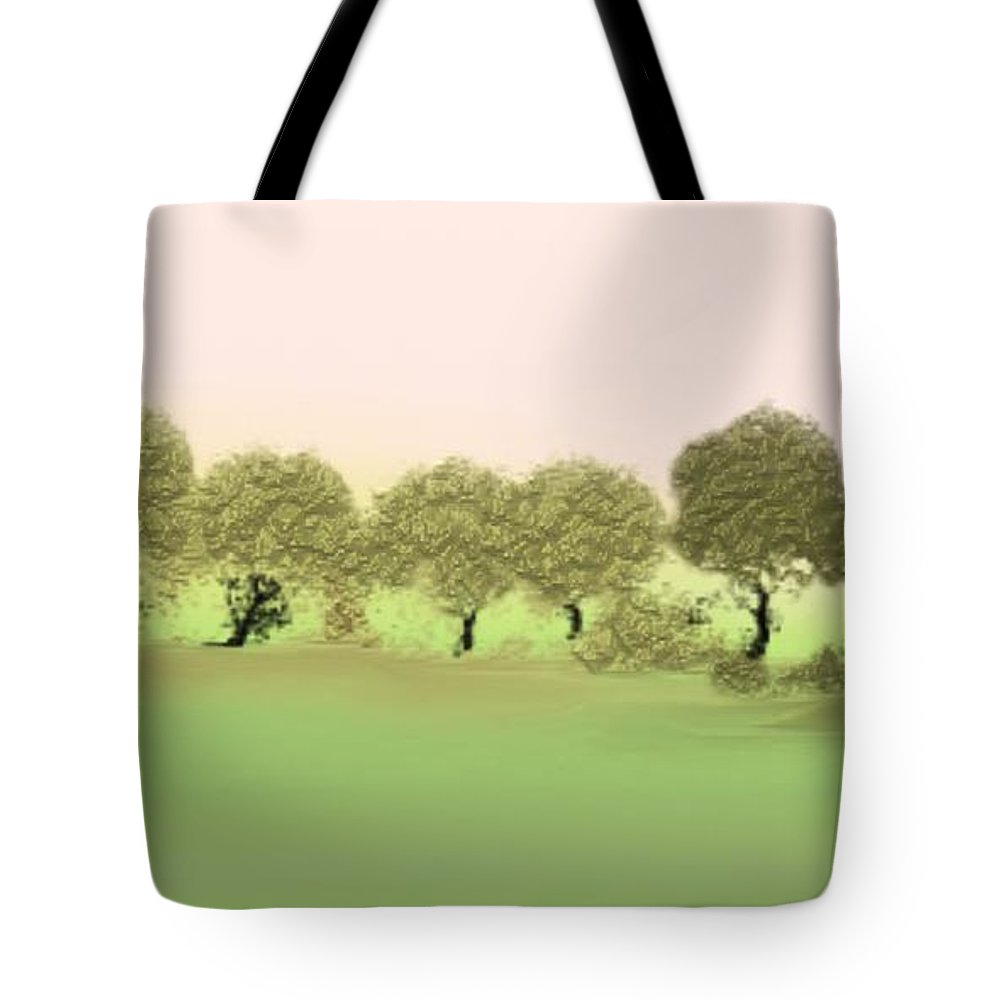 Tree Tote Bag featuring the painting Treeline by Gina Lee Manley