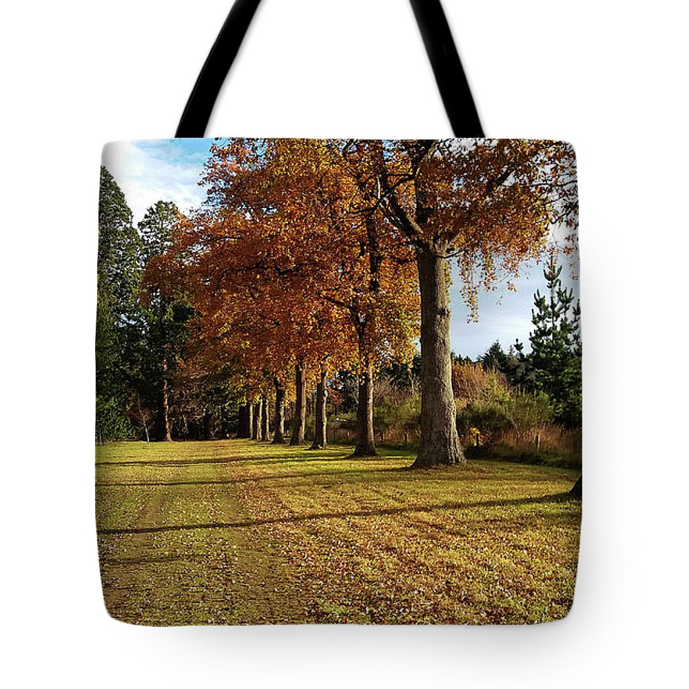 Park Tote Bag featuring the photograph Trees At The Park by Nareeta Martin