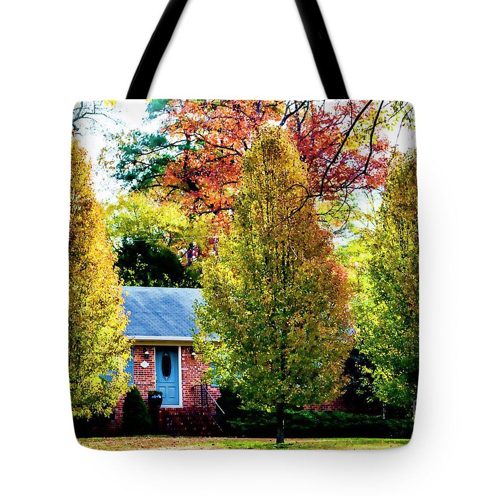 Trees Tote Bag featuring the photograph Trees Backlit By The Sun 0576t2 by Doug Berry