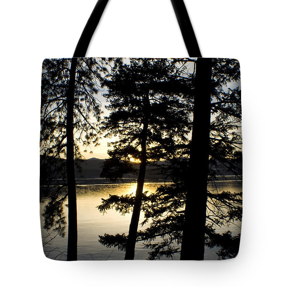 Trees Tote Bag featuring the photograph Trees By The Lake by Idaho Scenic Images Linda Lantzy