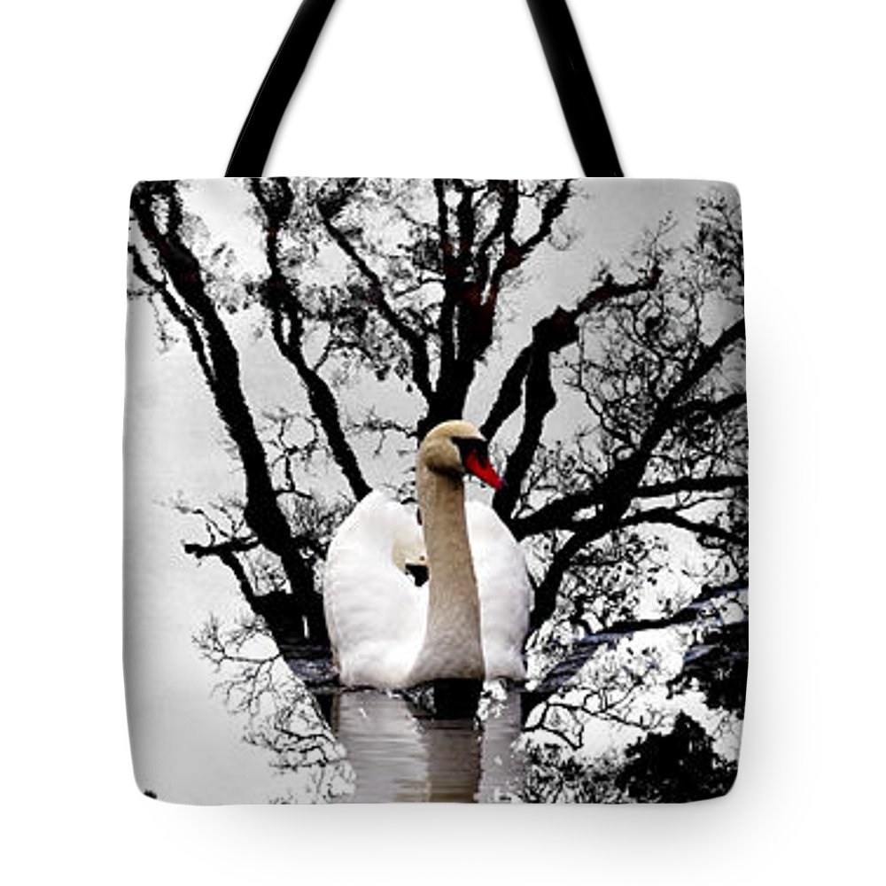 Water Tote Bag featuring the photograph Trees In Japan 6 by George Cabig