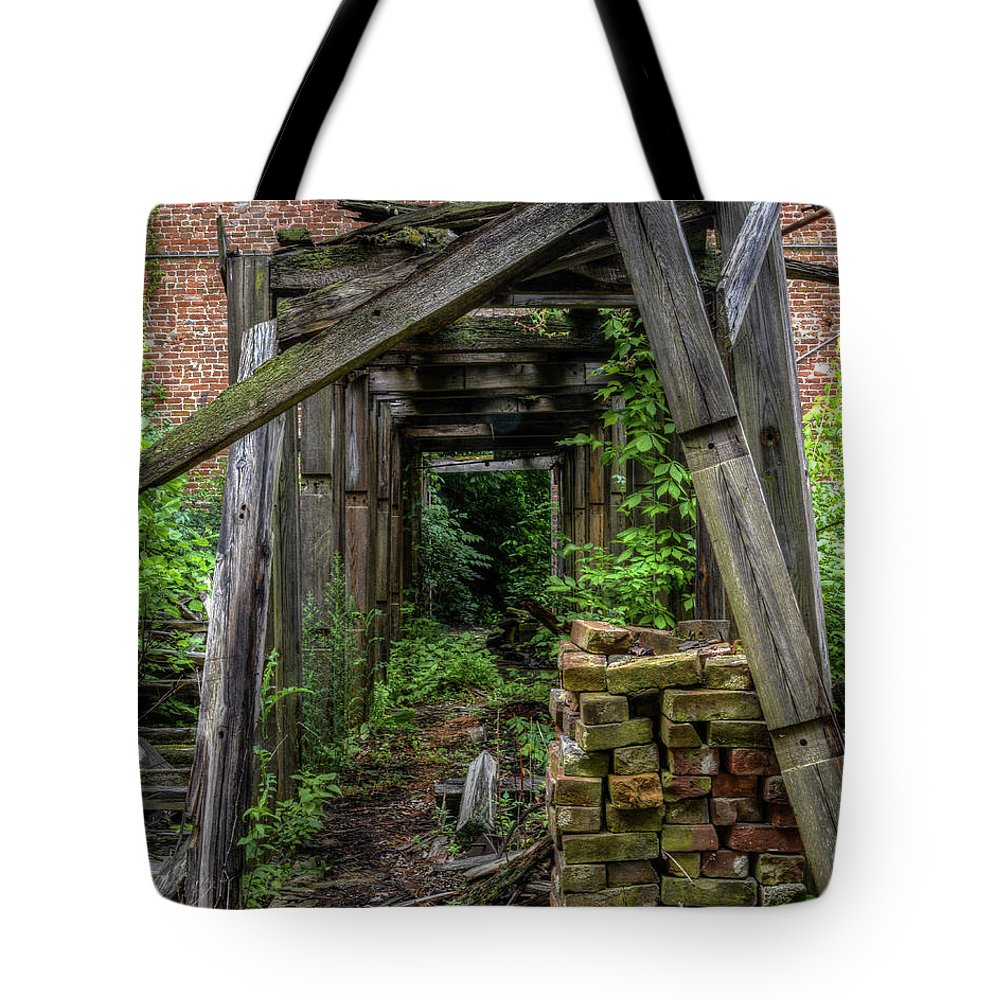 Tote Bag featuring the photograph Trellis by Jim Figgins