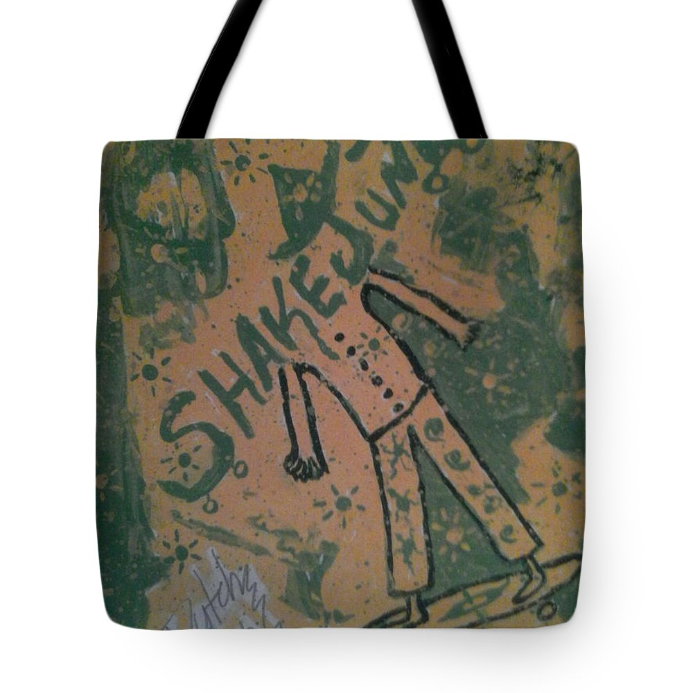 Tote Bag featuring the painting Trey by Dutch MARCHING