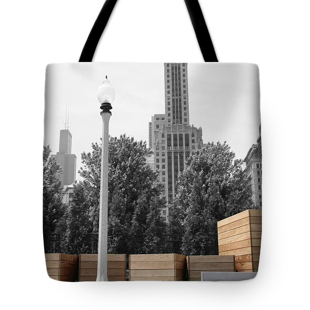 Cityscape Tote Bag featuring the photograph Tri Towers by Dylan Punke