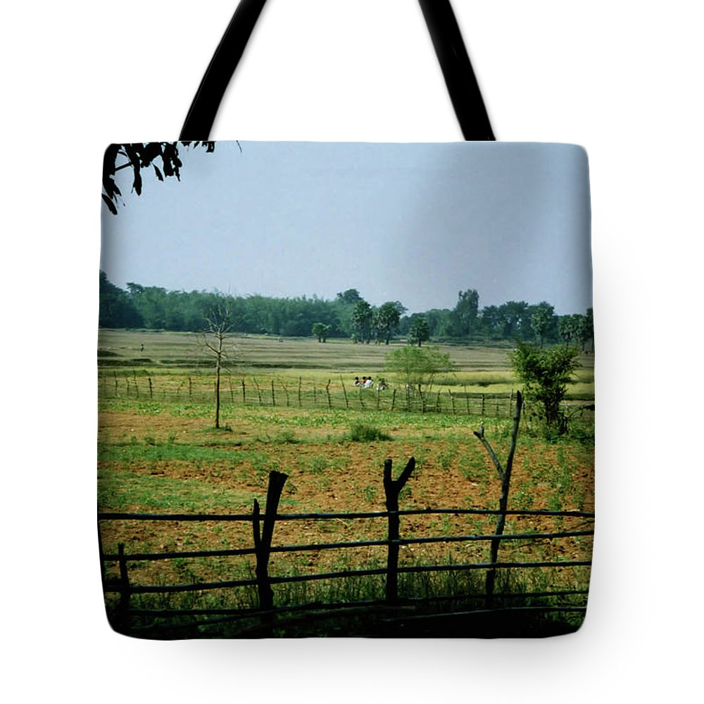 Tribe Tote Bag featuring the photograph Tribal Village by Ujjwal Rout
