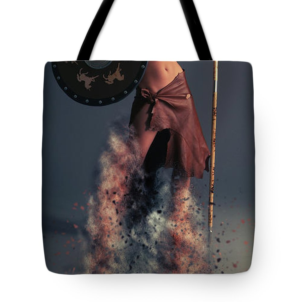 Tribal Tote Bag featuring the photograph Tribal Warrior by Smart Aviation