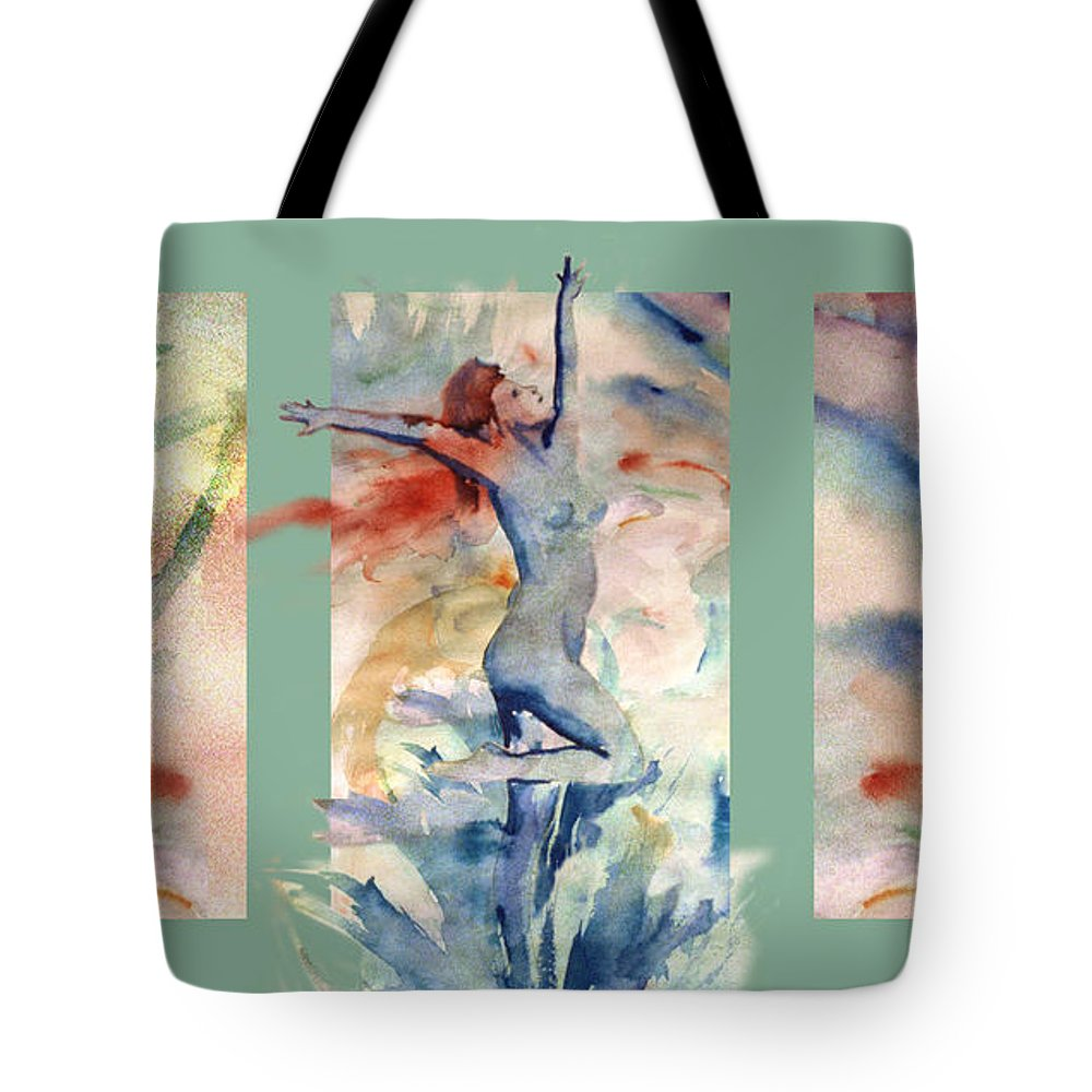 Abstract Tote Bag featuring the painting Tribute by Steve Karol