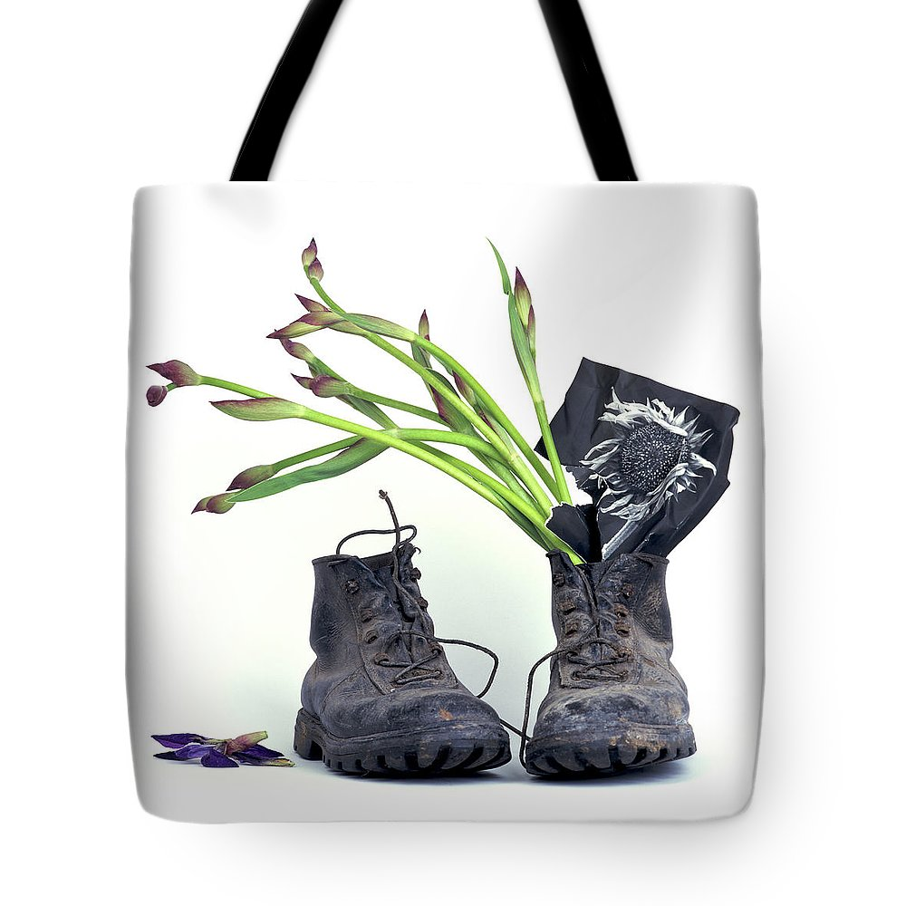 Van Tote Bag featuring the photograph tribute to Van Gogh by Bernard Jaubert
