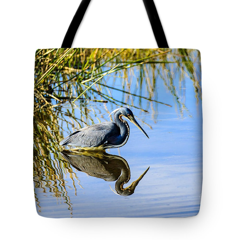 Tricolored Heron Tote Bag featuring the photograph Tricolored Heron 2 by Ben Graham