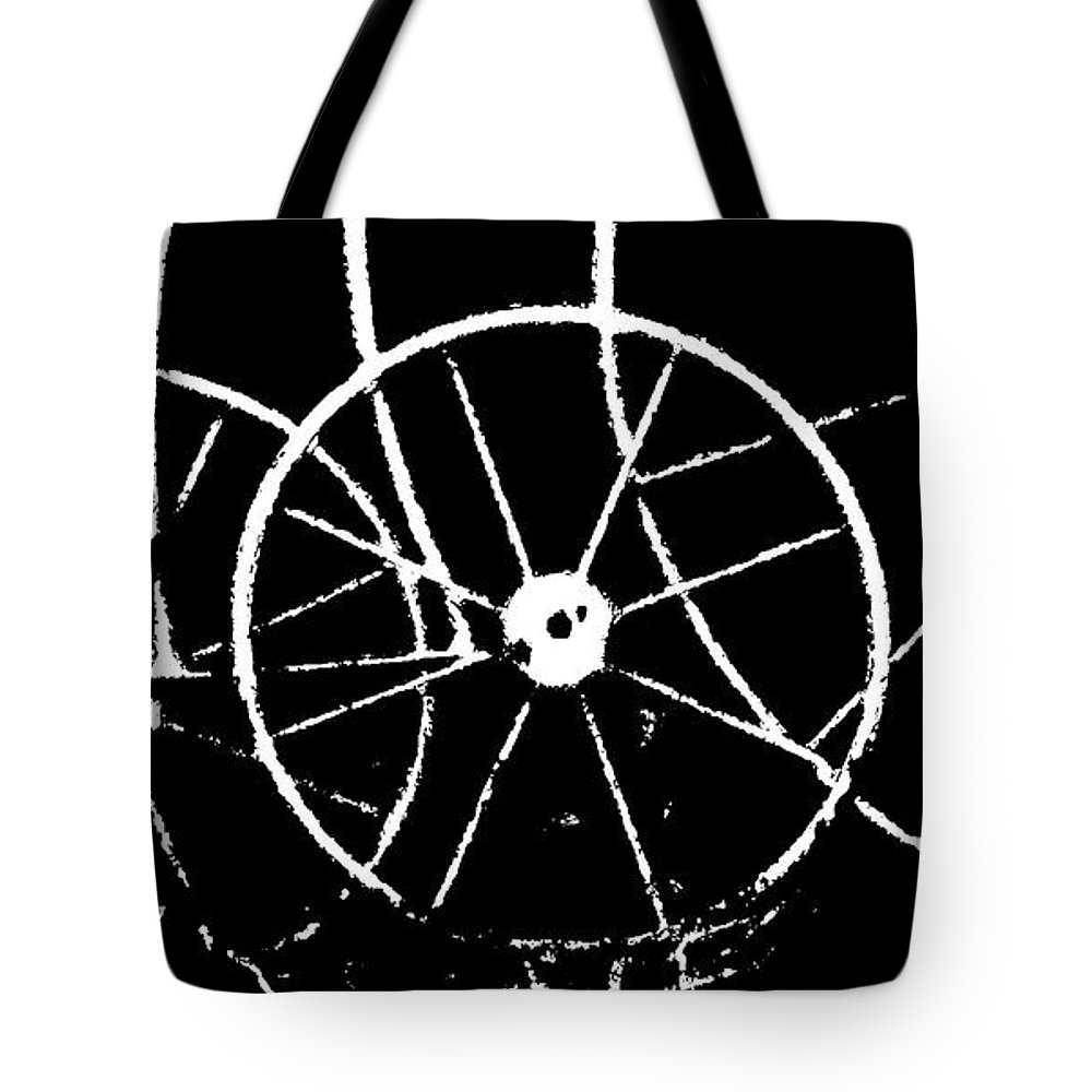 Abstract Tote Bag featuring the photograph Tricycle by Lenore Senior