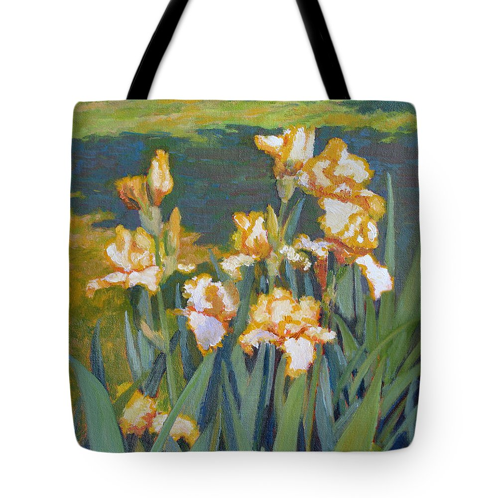 Impressionism Tote Bag featuring the painting Trimmed In Gold by Keith Burgess