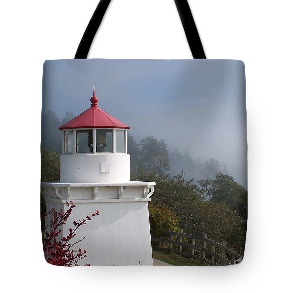 Lighthouse Tote Bag featuring the photograph Trinidad Head Lighthouse by Gale Cochran-Smith