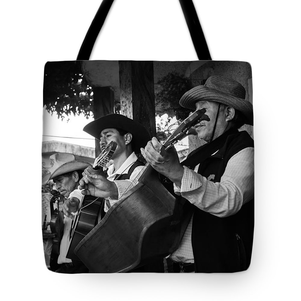 Historiantes Tote Bag featuring the photograph Trio Apaneca by Totto Ponce