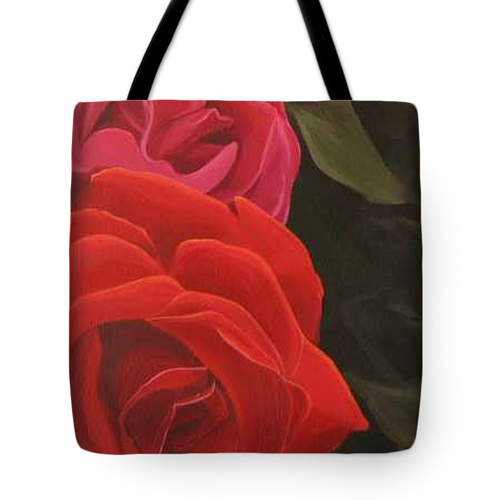 Roses In Italy Tote Bag featuring the painting Trio by Hunter Jay