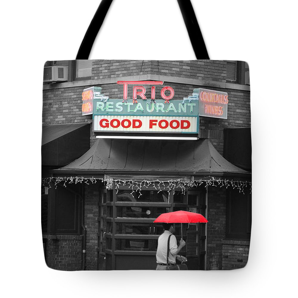 Trio Tote Bag featuring the photograph Trio Restaurant by Jost Houk