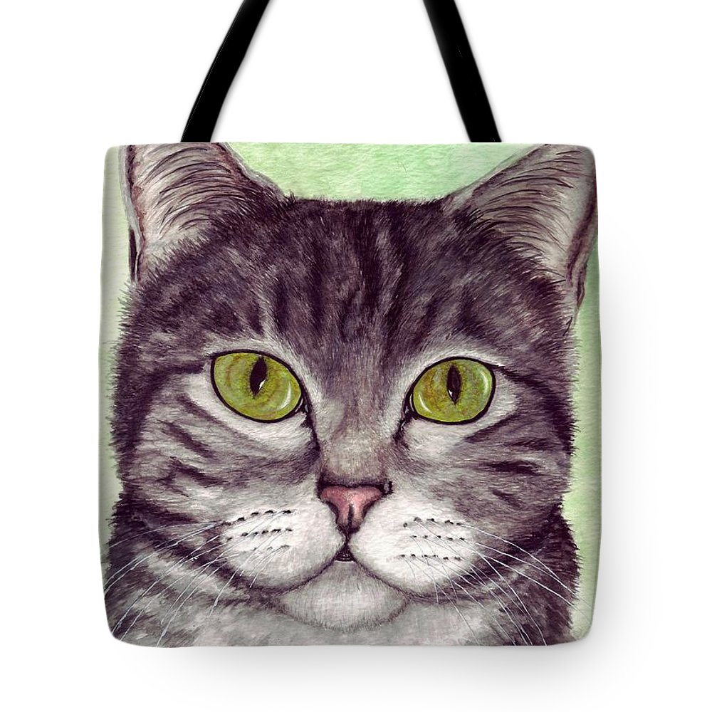 Cat Tote Bag featuring the painting Tripper by Kristen Wesch