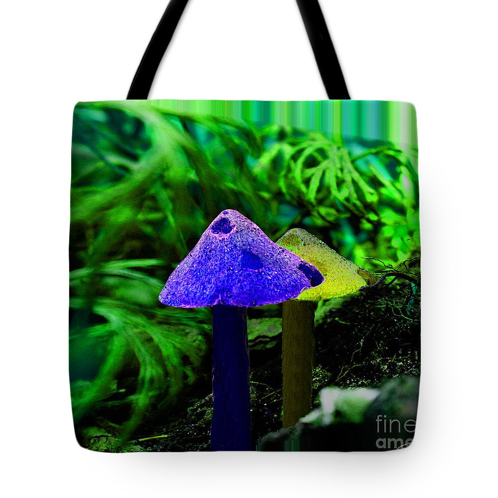 Mushroom Tote Bag featuring the photograph Trippy Shroom by September Stone