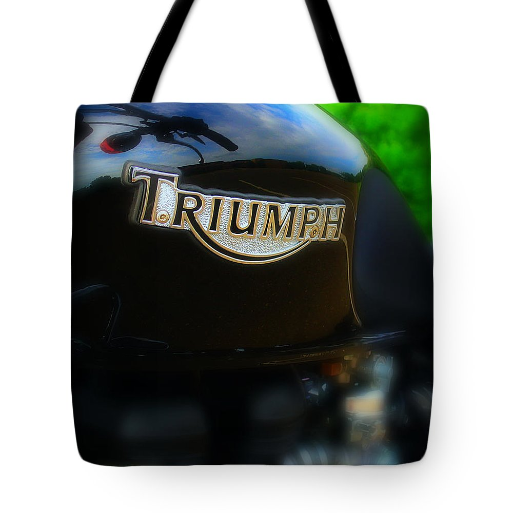 Triumph Tote Bag featuring the photograph Triumph by Perry Webster