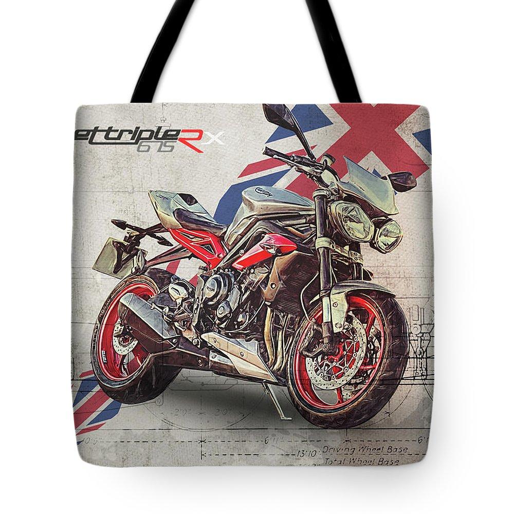 Triumph Street Triple Rx Tote Bag For Sale By Yurdaer Bes