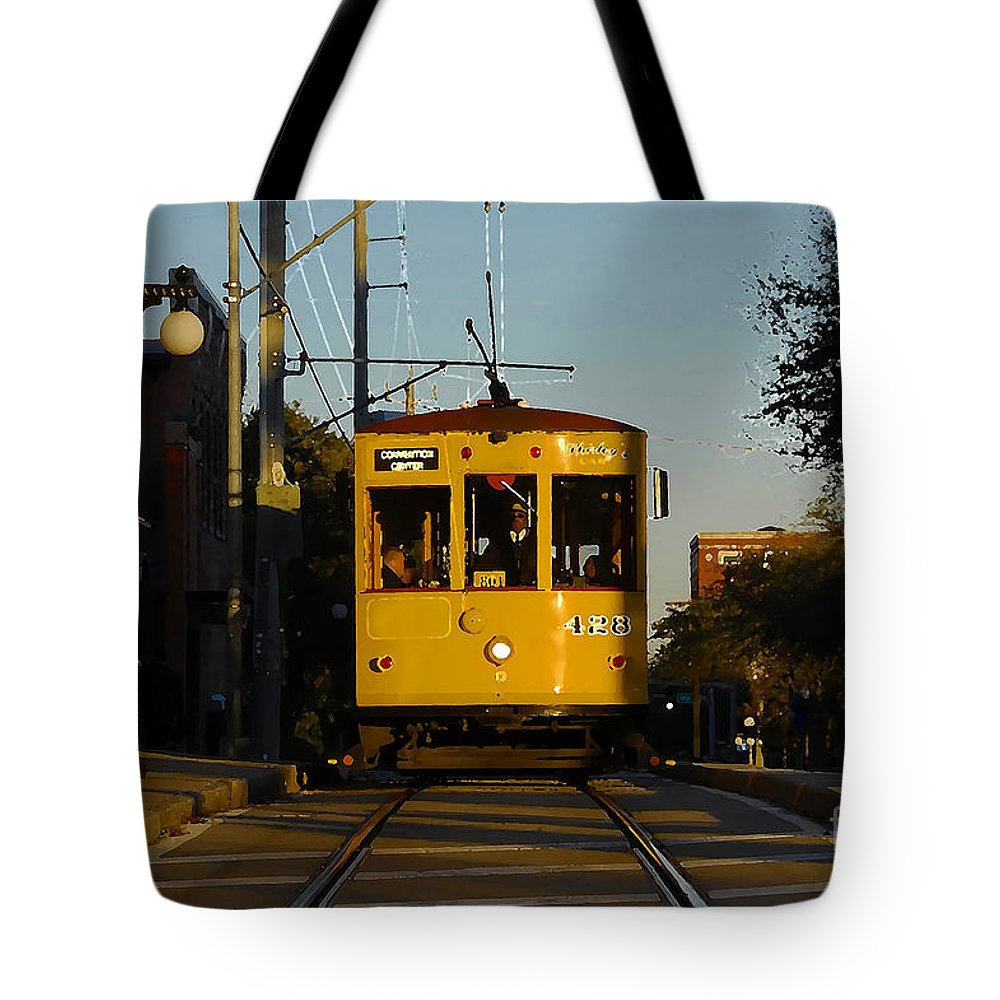 Trolley Tote Bag featuring the photograph Trolley Ride by David Lee Thompson