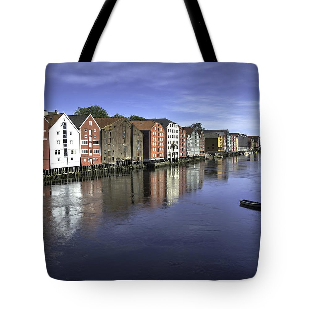 Norway Tote Bag featuring the photograph Trondheim Norway by Alan Toepfer