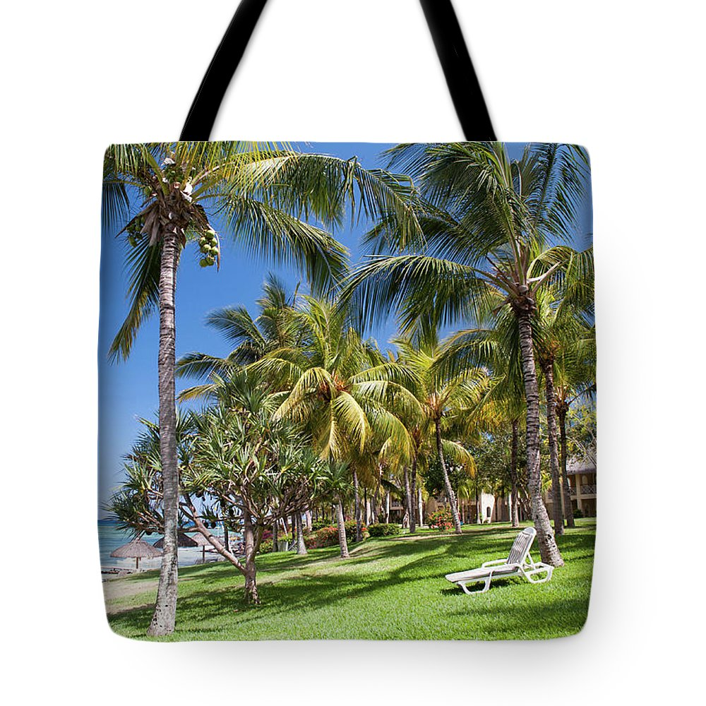 Jenny Rainbow Fine Art Photography Tote Bag featuring the photograph Tropical Beach I. Mauritius by Jenny Rainbow