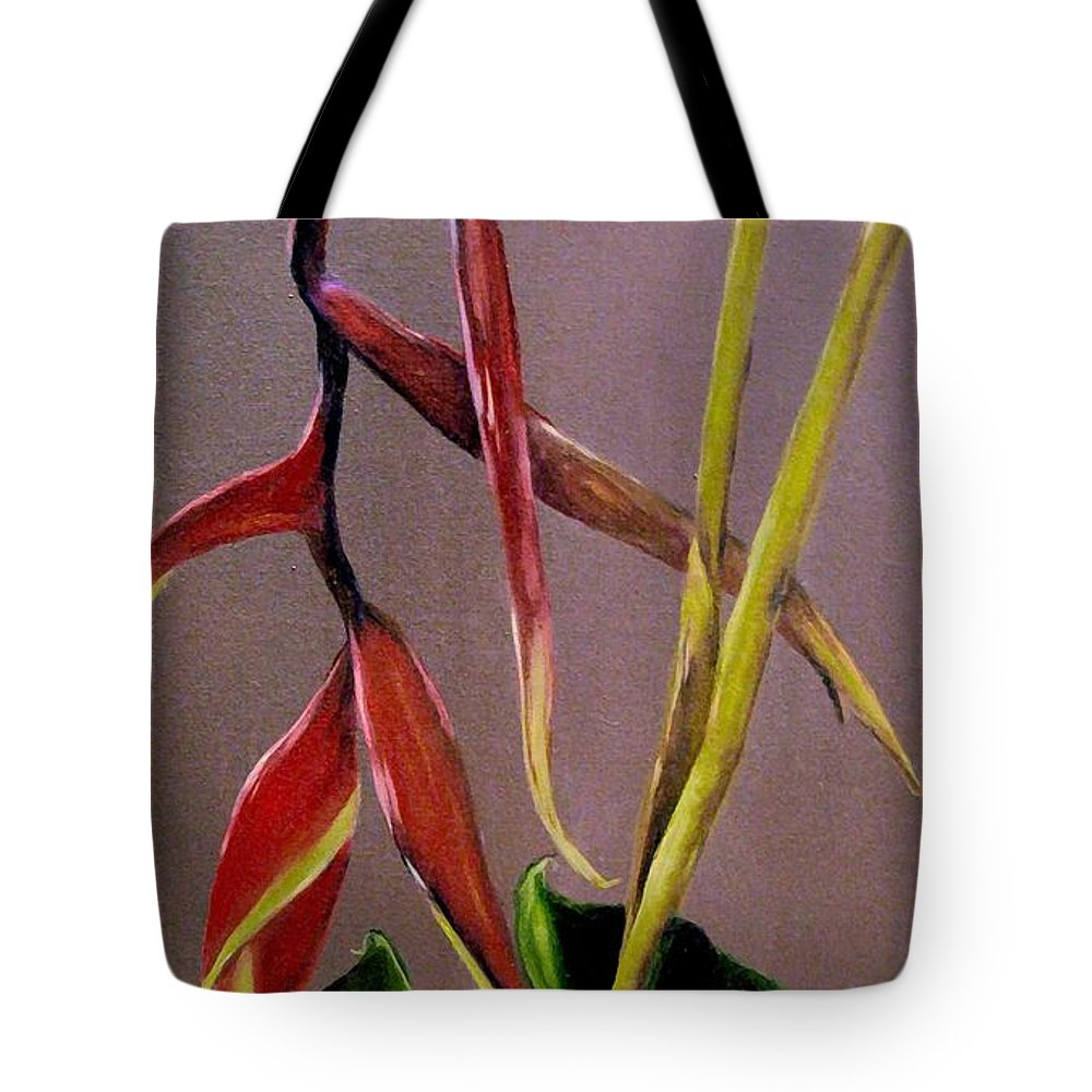 Plant Tote Bag featuring the painting Tropical Beauty by Carol Sweetwood