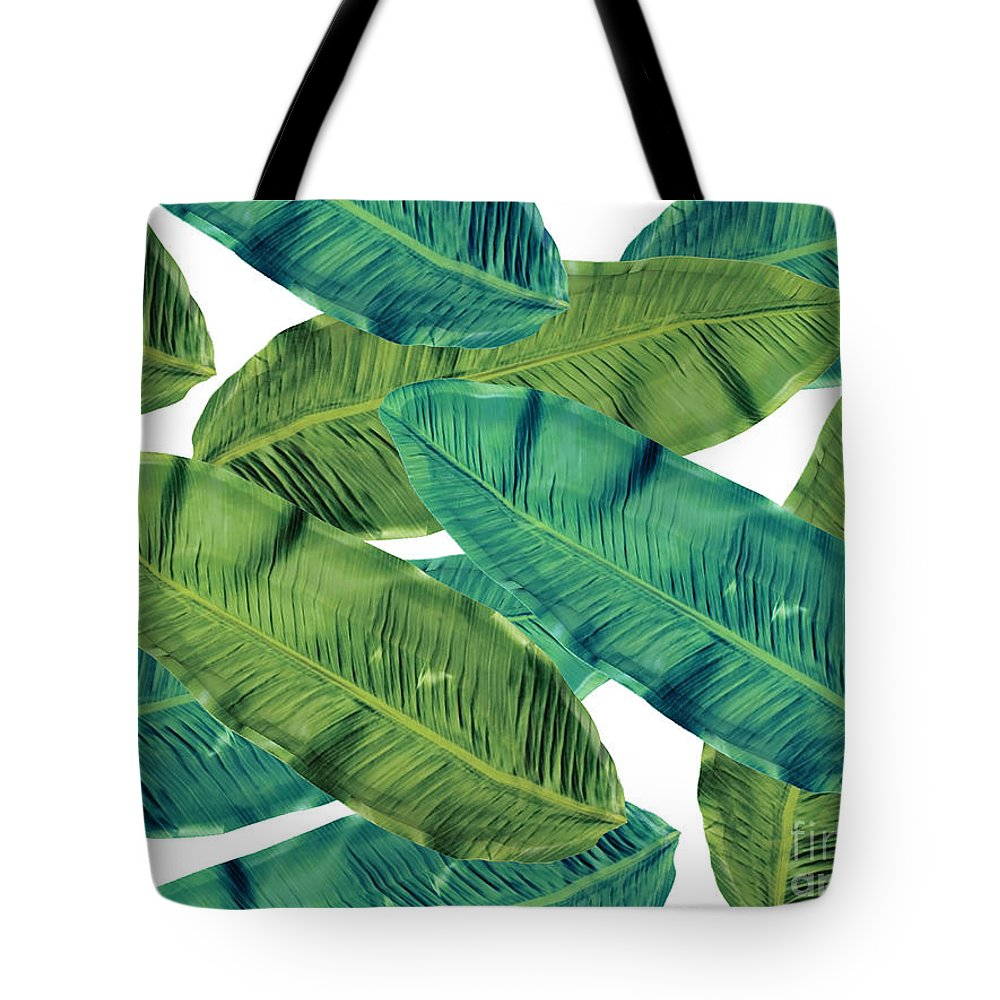 Summer Tote Bag featuring the digital art Tropical Colors 2 by Mark Ashkenazi