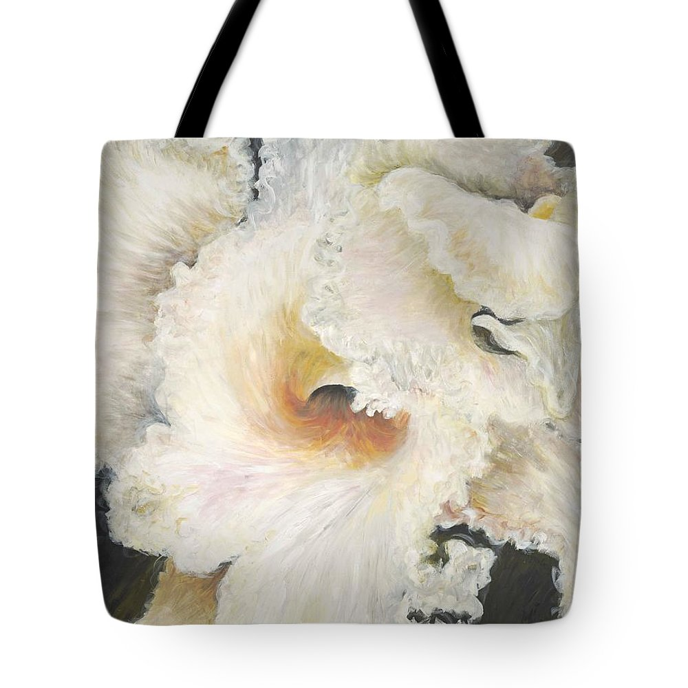 Flower Tote Bag featuring the painting Tropical Flowers by Nadine Rippelmeyer