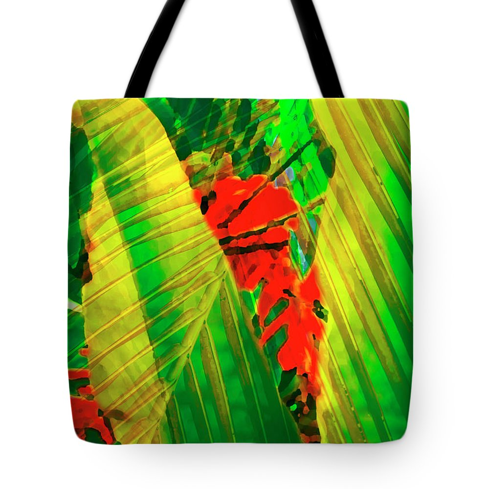 Tropical Tote Bag featuring the photograph Tropical Fusion by Stephen Anderson