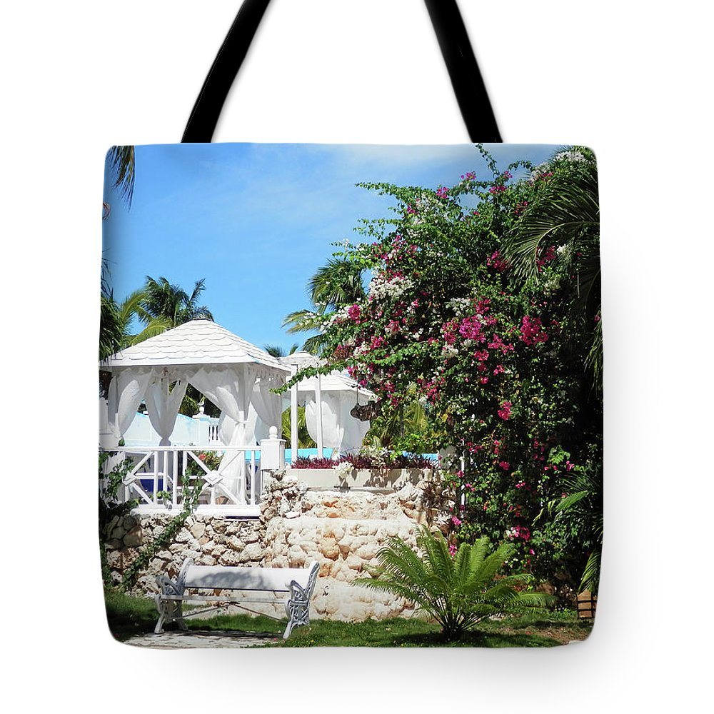 Garden Tote Bag featuring the photograph Tropical Garden by Pema Hou