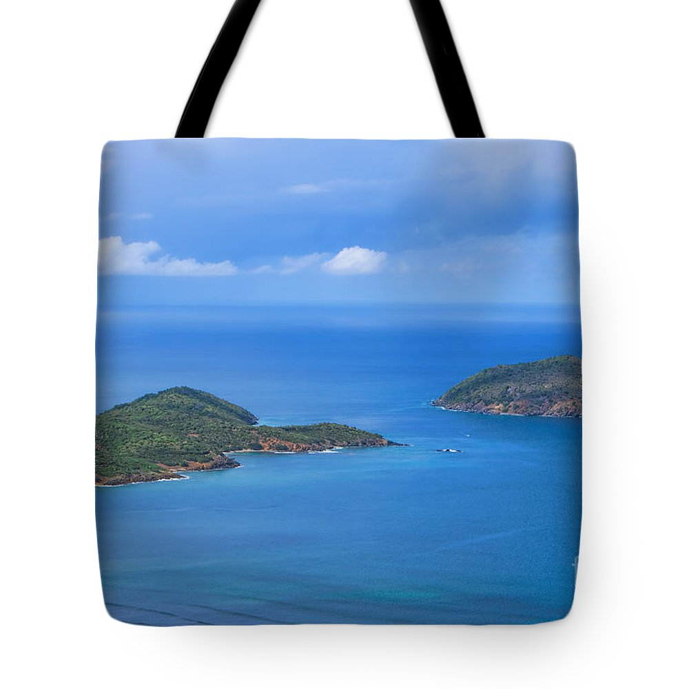 Tropical Islands Tote Bag featuring the photograph Tropical Islands In The Caribbean Sea by Olga Hamilton