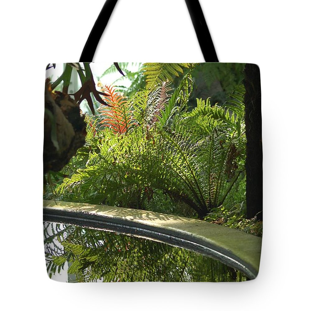Tropical Plants Tote Bag featuring the photograph Tropical Mirror by D Nigon