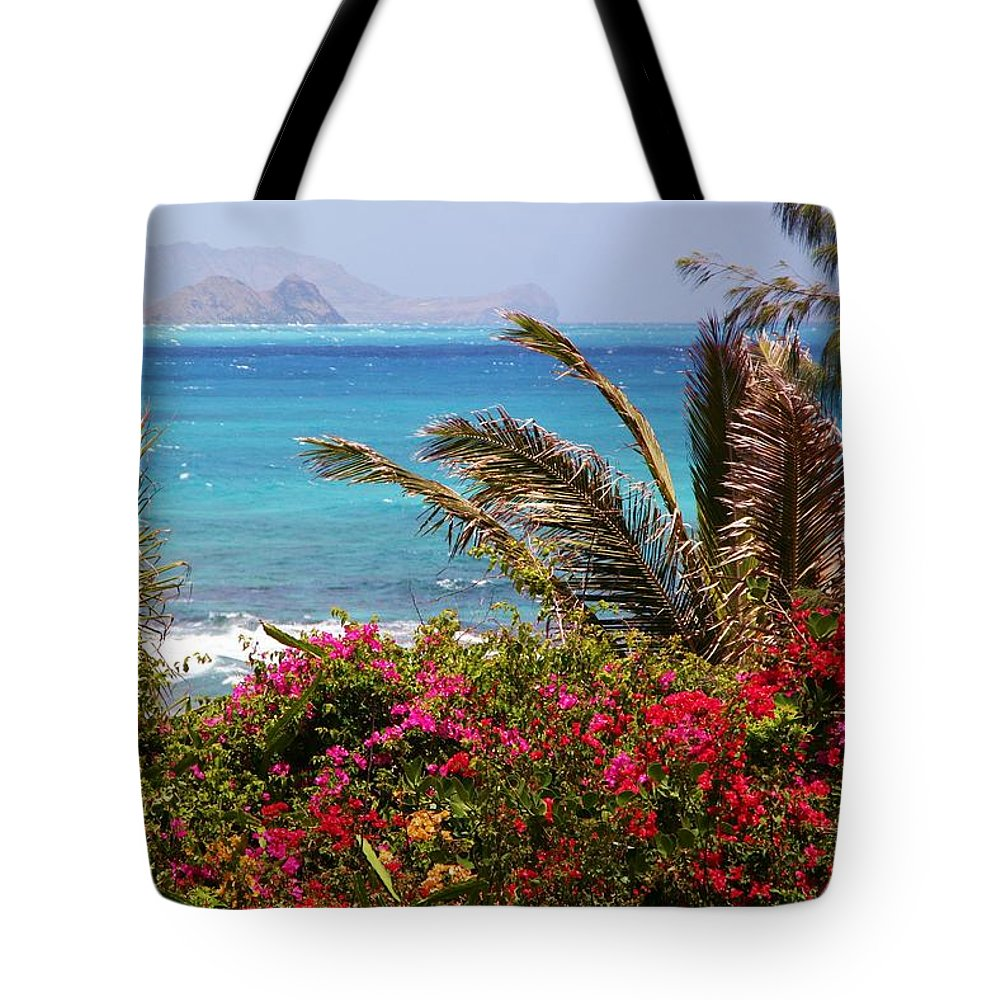 Tropical Tote Bag featuring the photograph Tropical Paradise by Mitch Cat