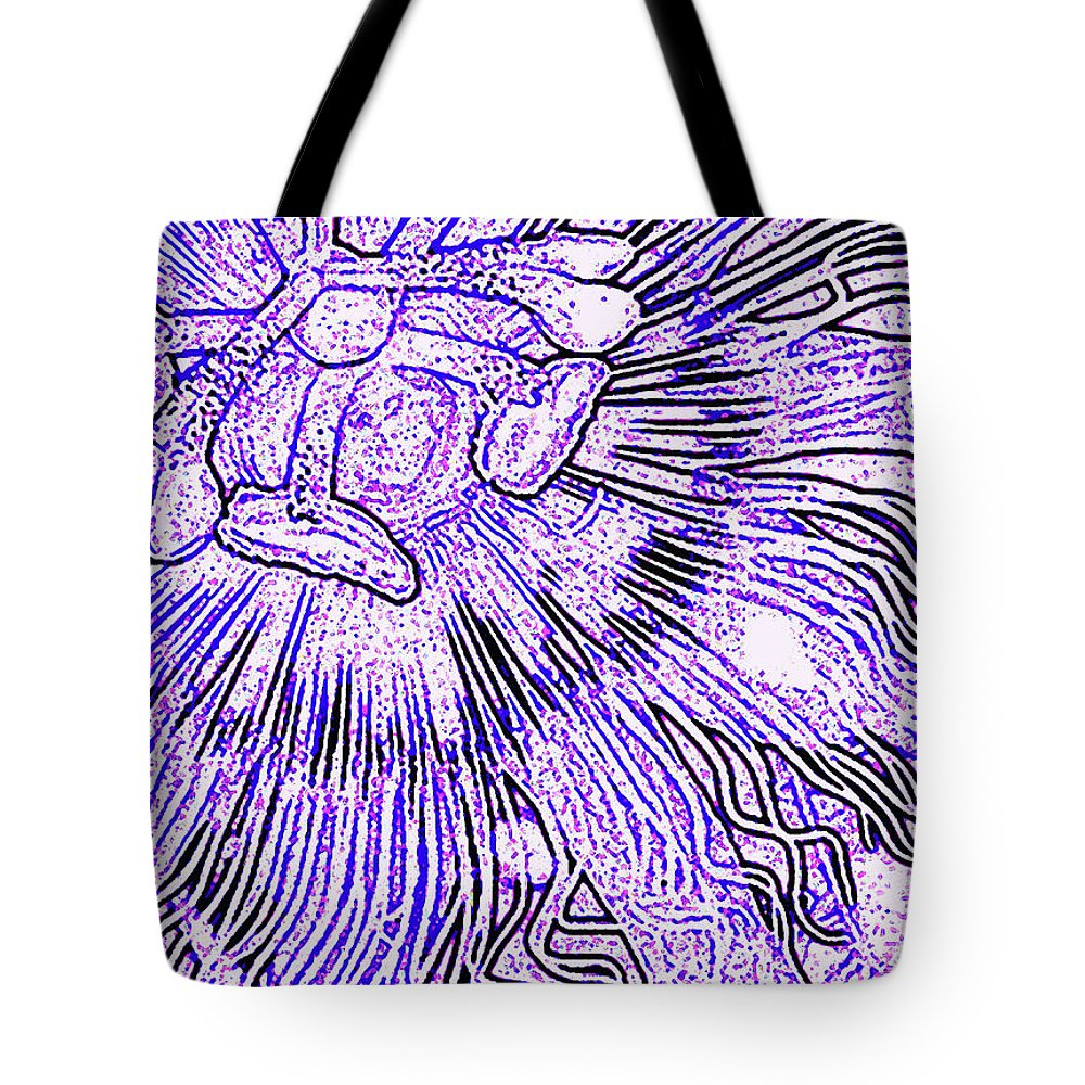 Passion Fruit Flower Tote Bag featuring the digital art Tropical Passion by James Temple