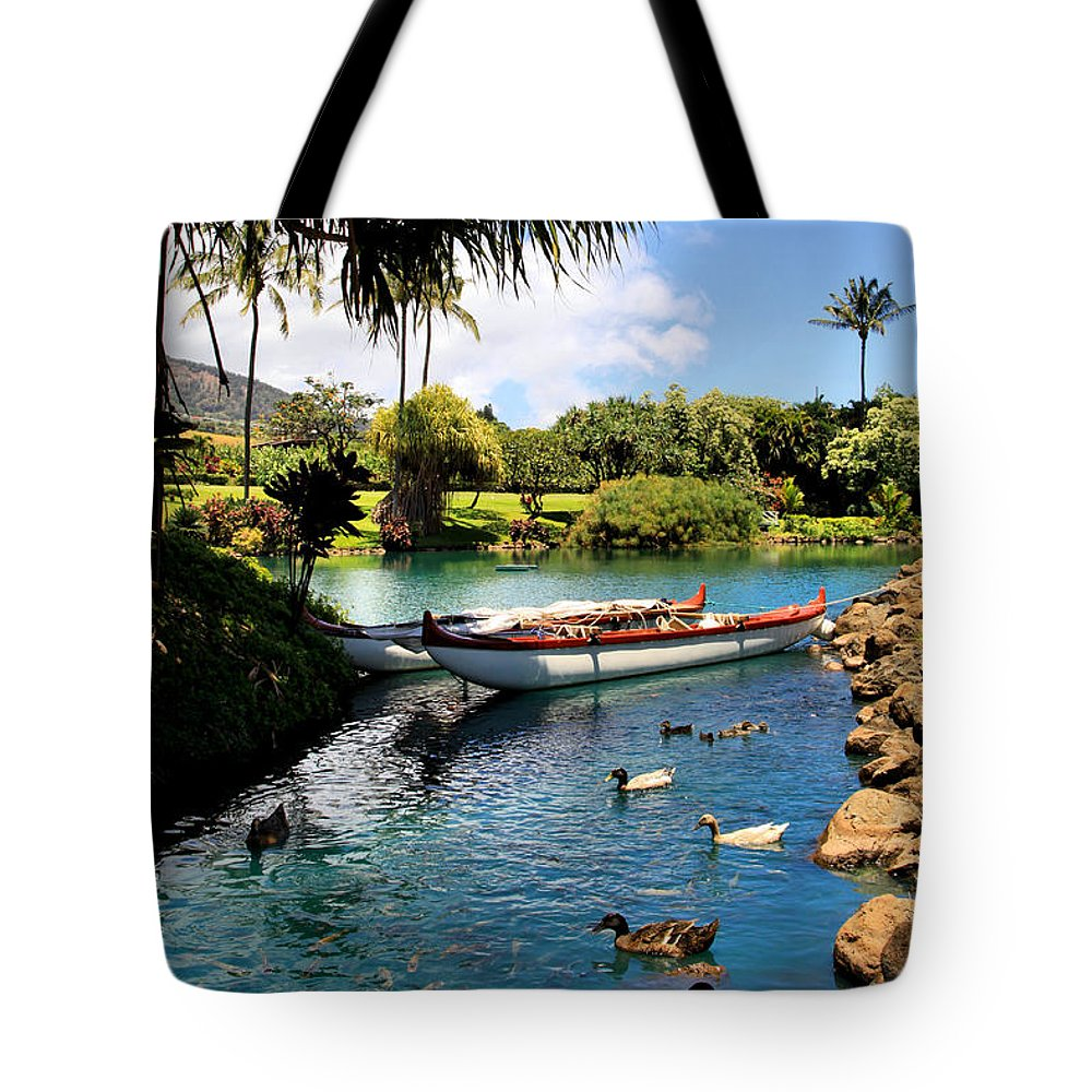 Waikapu Tote Bag featuring the photograph Tropical Plantation - Maui by DJ Florek
