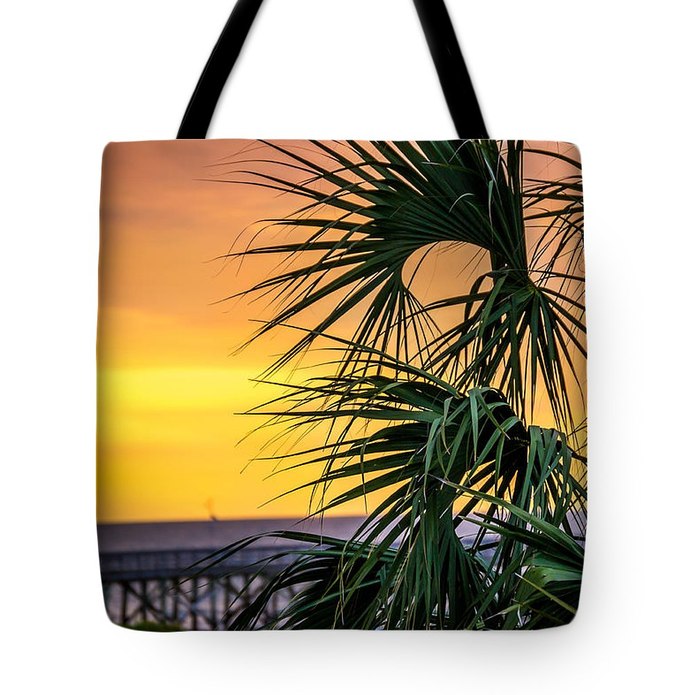 Tropical Tote Bag featuring the photograph Tropical Sunrise by Capturing The Carolinas
